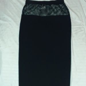 Knitted High Waisted Pencil Skirt